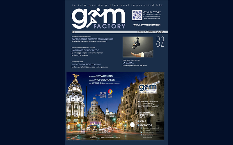 DISPONIBLE EL Nº 82 DE LA REVISTA GYM FACTORY