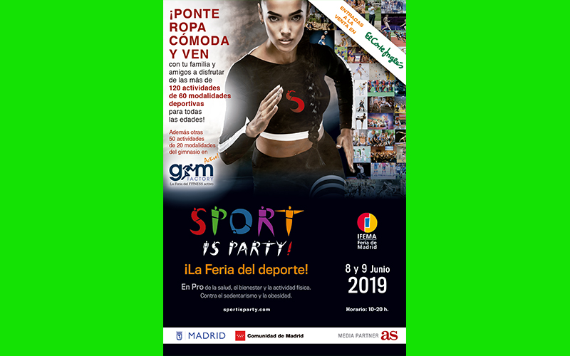 LA COMUNIDAD Y EL AYUNTAMIENTO DE MADRID, CON SPORT IS PARTY!